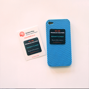 screen cleaner on a blue phone case