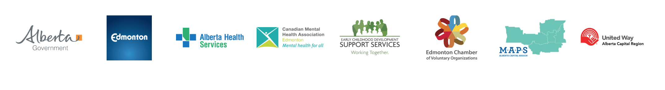 a collection of of company logo's that show the financial support the donate towards the community mental health action plan